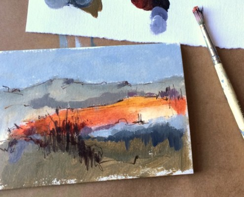 Alice Sheridan 365create aprilcolour abstract painting