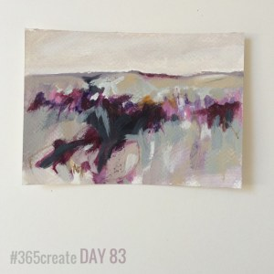 Alice Sheridan 365create aprilcolour abstract landscape painting postcard
