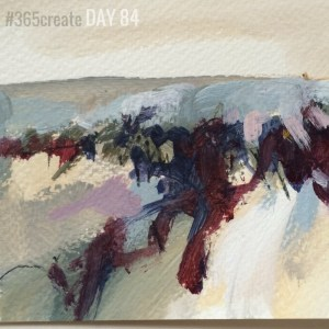 Alice Sheridan 365create aprilcolour abstract landscape painting