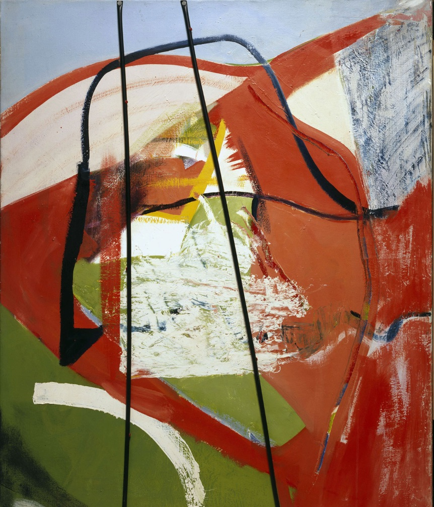 Peter Lanyon Glide Path 1964 oil and plastic tubing on canvas 152.5 x 122 cm