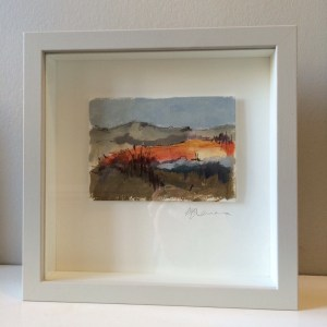 small abstract landscape painting framed original by Alice Sheridan SOLD