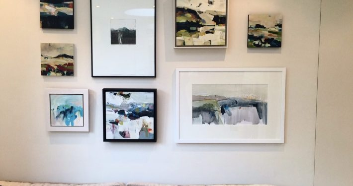 Hanging artwork for Artists at Home 2016 Alice Sheridan