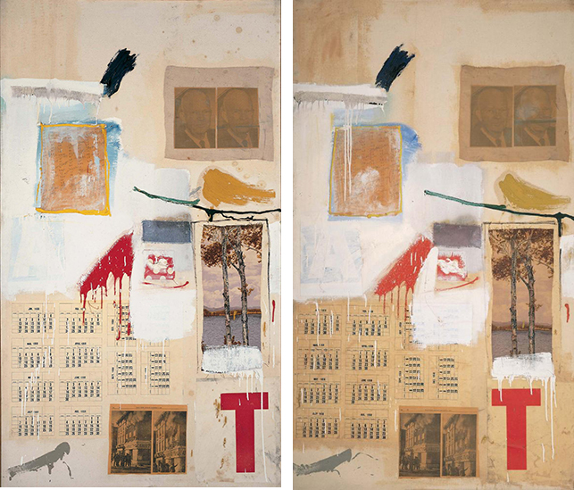 Robert Rauschenberg Factum1 and 2