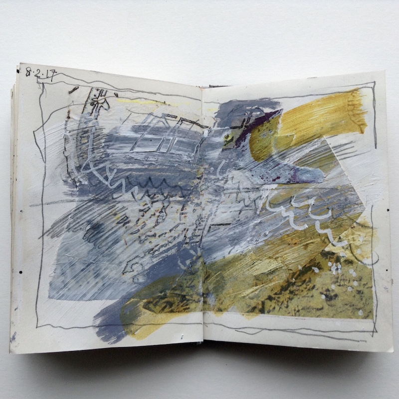 abstract art sketchbook