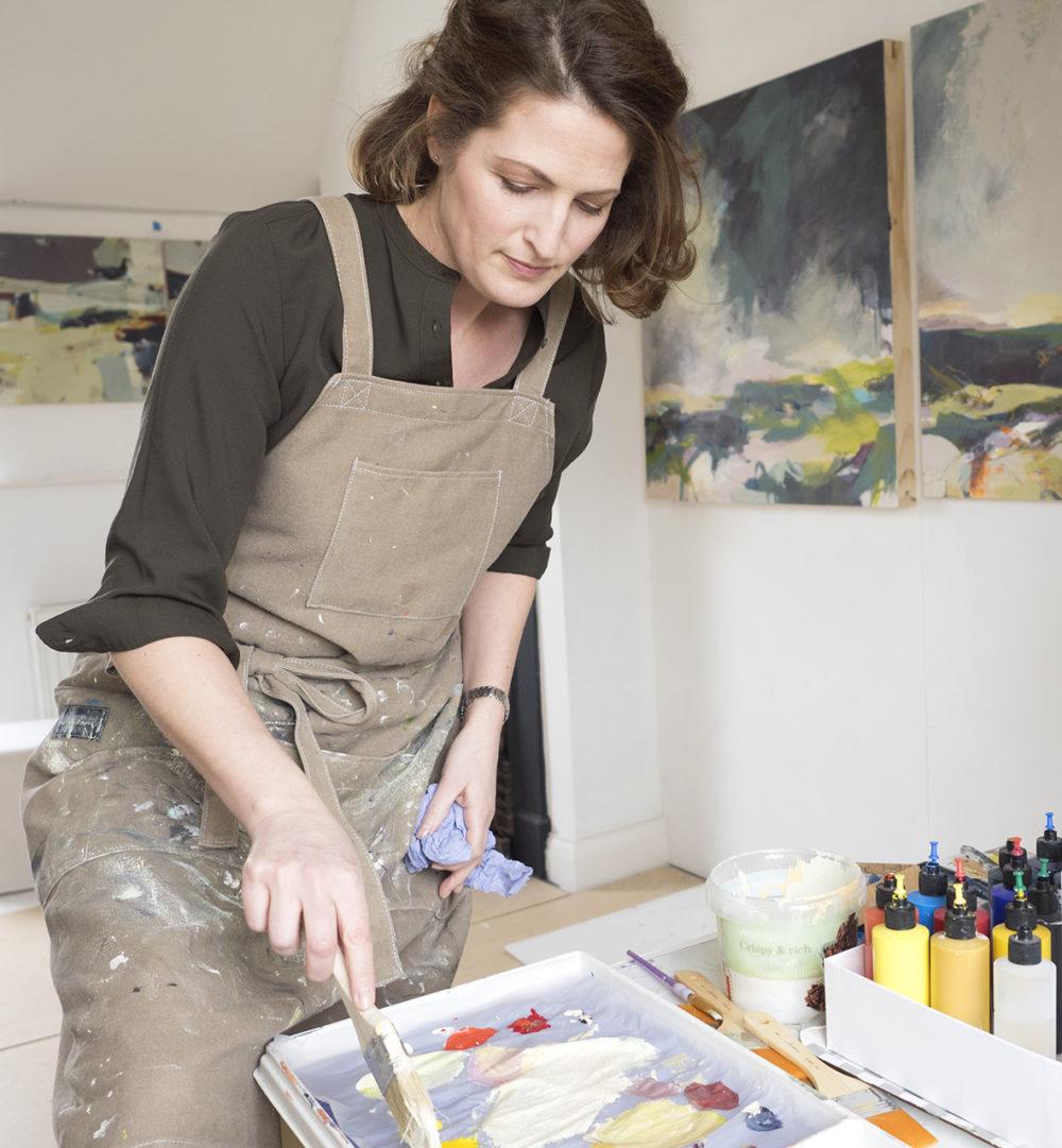 Alice Sheridan working in her London studio