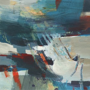Diffused, small abstract painting by Alice Sheridan