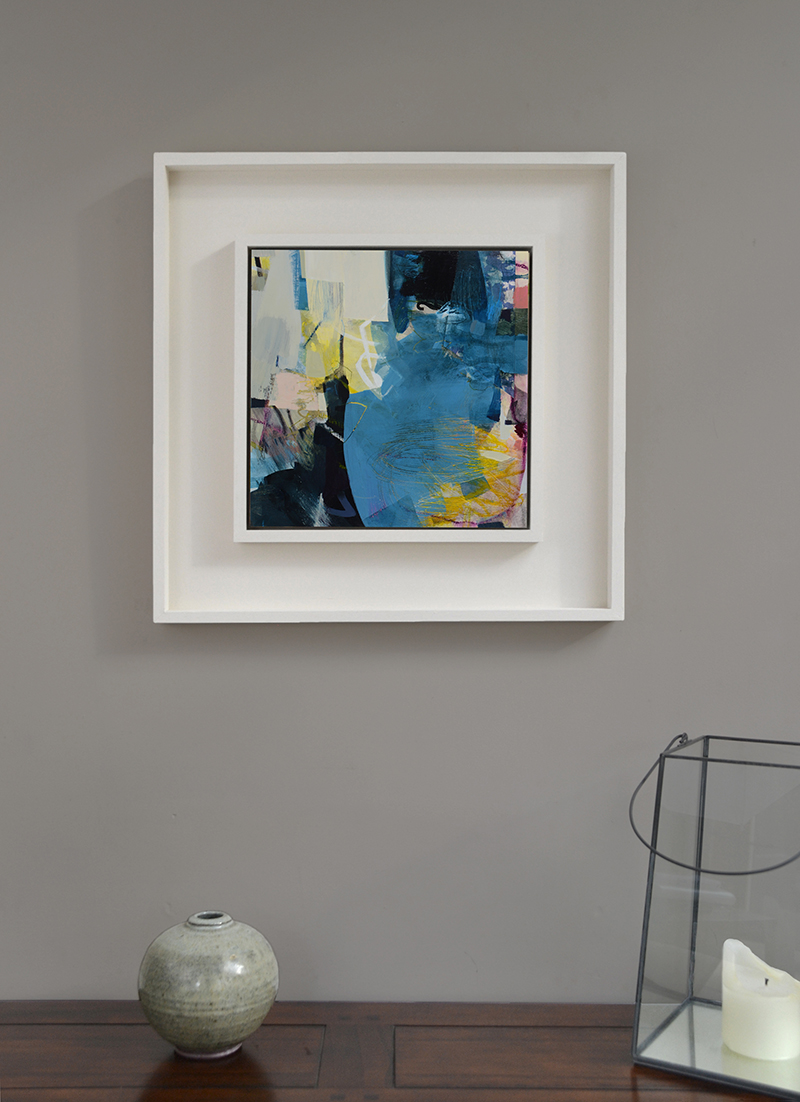 blue abstract painting by Alice Sheridan
