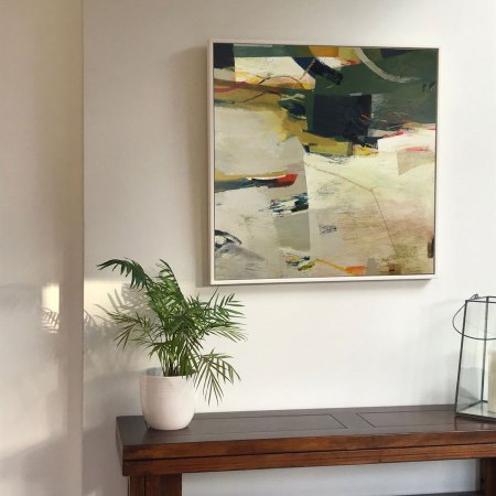 Consequence framed abstract painting by Alice Sheridan