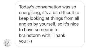 Artist coaching call energising