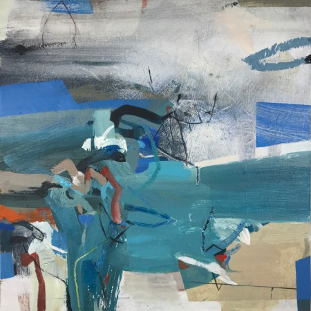 Frosted 30x30cm abstract painting Alice Sheridan