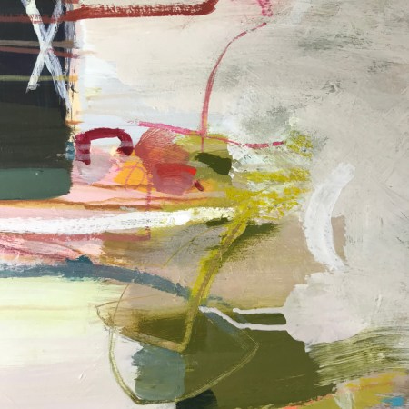 detail of Love Bug abstract painting by Alice Sheridan