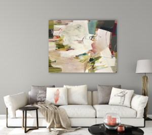 pale pink abstract painting Alice Sheridan