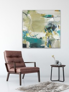 You Saw Diamonds 100x100cm abstract painting by Alice Sheridan