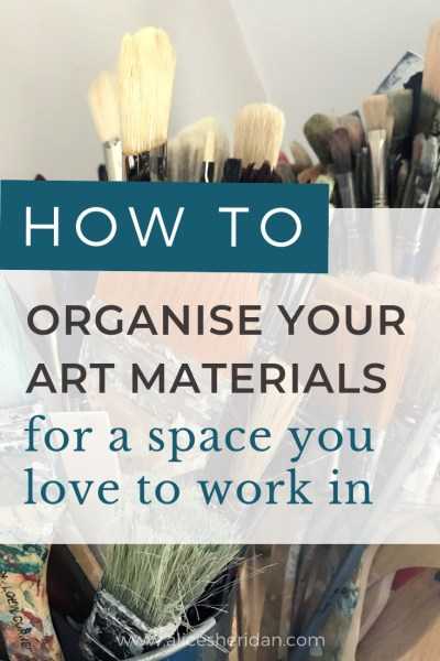 how to organise your art materials
