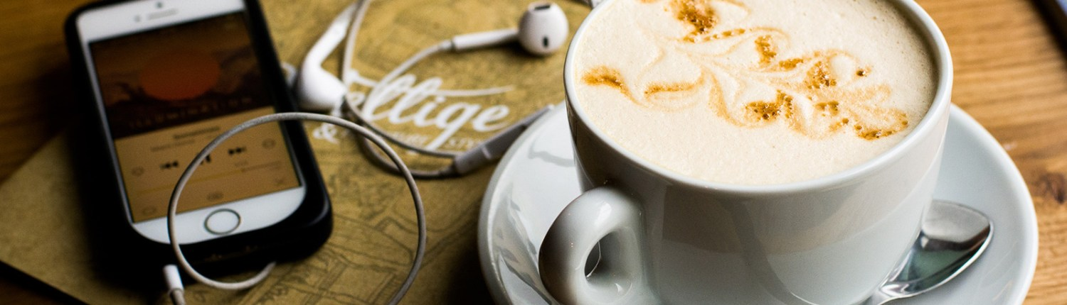 art podcast listen with coffee