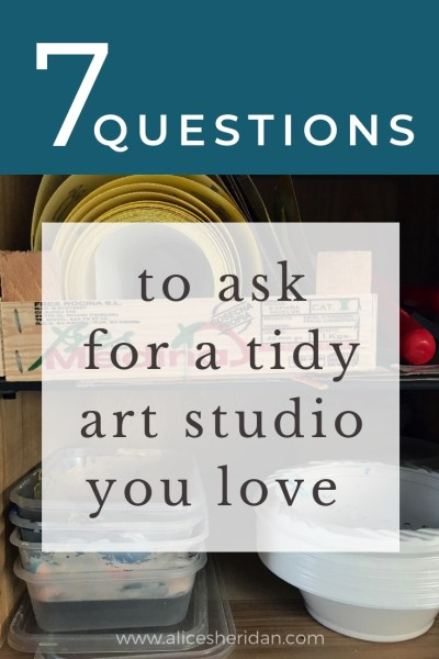 questions to help you tidy your art materials