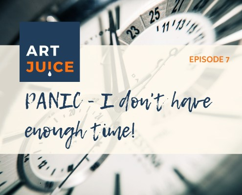 Art Juice podcast - making time for art
