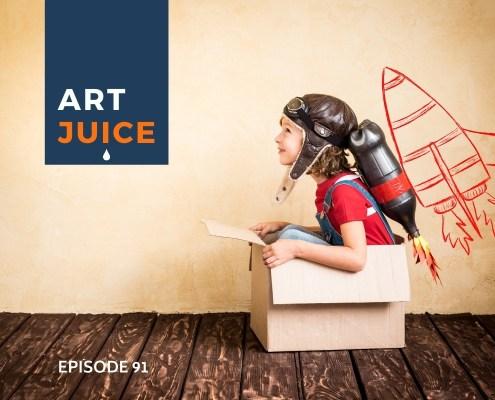 Art Juice podcast rocket ship