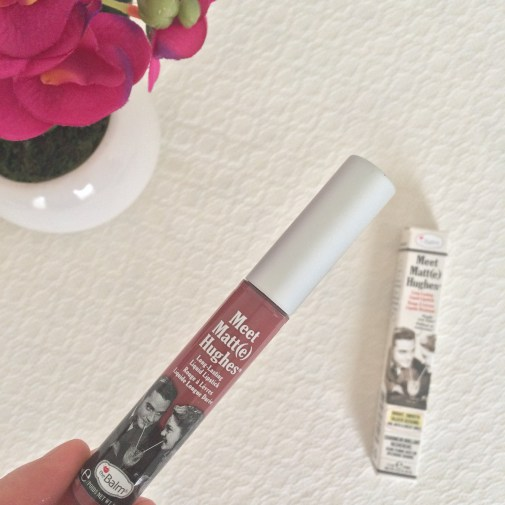 Meet Matt(e) Hughes Long-Lasting Liquid Lipstick in 'Charming', theBalm