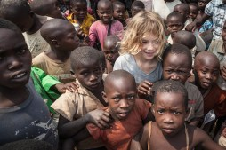 Xaver and Congolese Refugee Kids