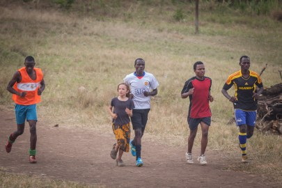 Xaver Trained every day with the Kamwenge youth team