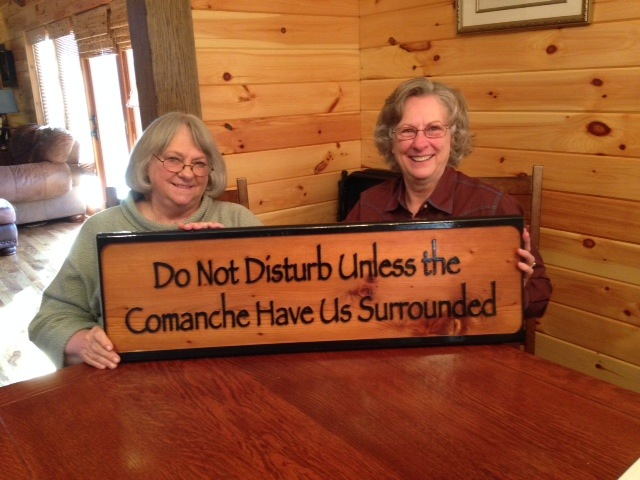 Do not disturb the Comanche have us surrounded