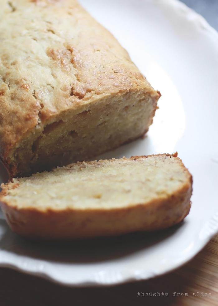 dense texture of banana bread without baking soda
