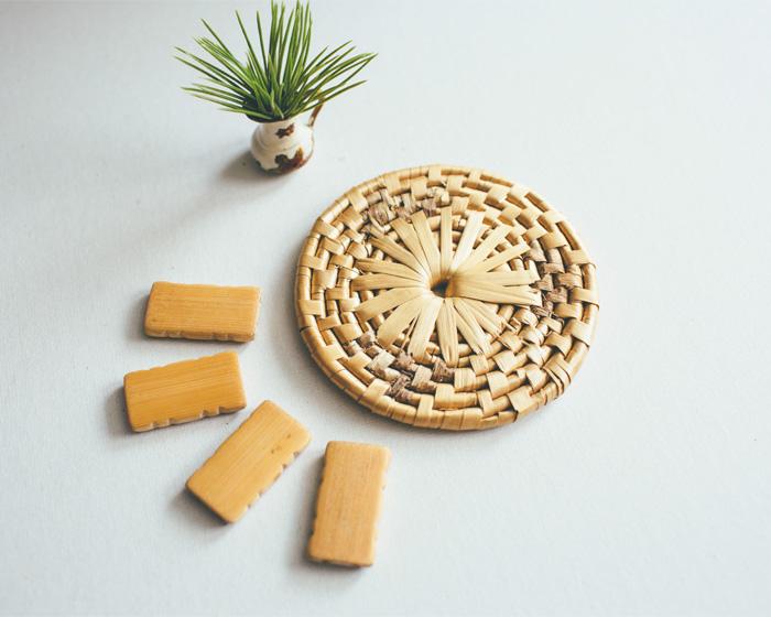 Bamboo Beads and Rattan Coaster