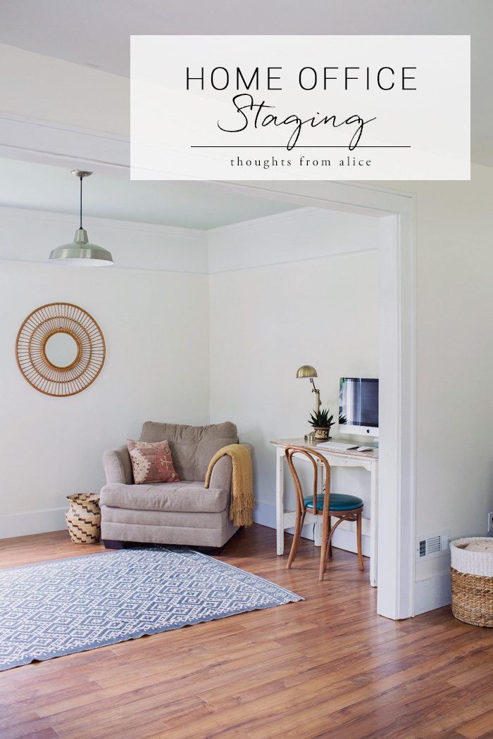 Simple Home Office Staged to Sell
