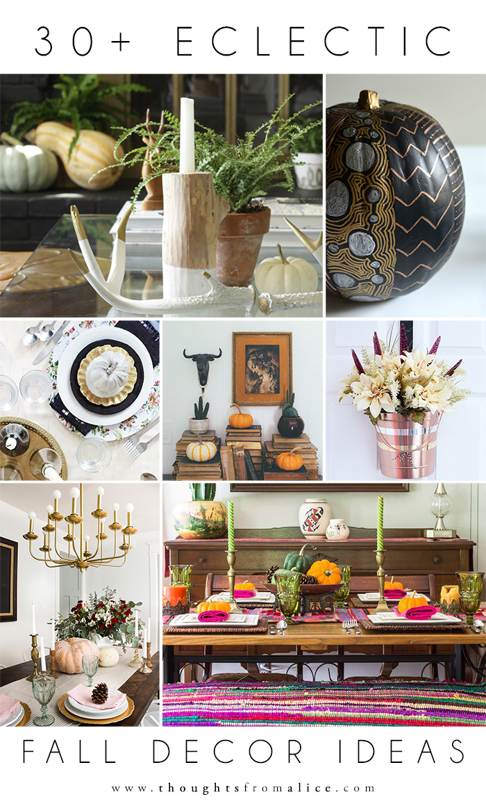 Eclectic Fall Decor Ideas Alice Wingerden