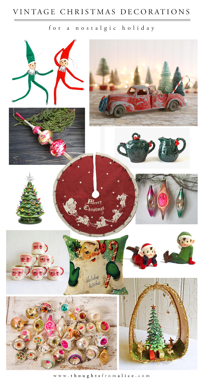 I Could Probably Browse Vintage Christmas Decorations Online For Hours, But  Narrowed It Down To These To Share With You Today.