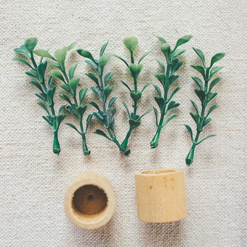 Craft Supplies for Modern Dollhouse Plants