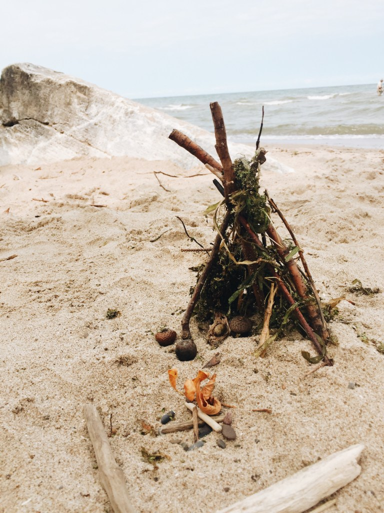 Mini Tepee and Campfire made from Nature