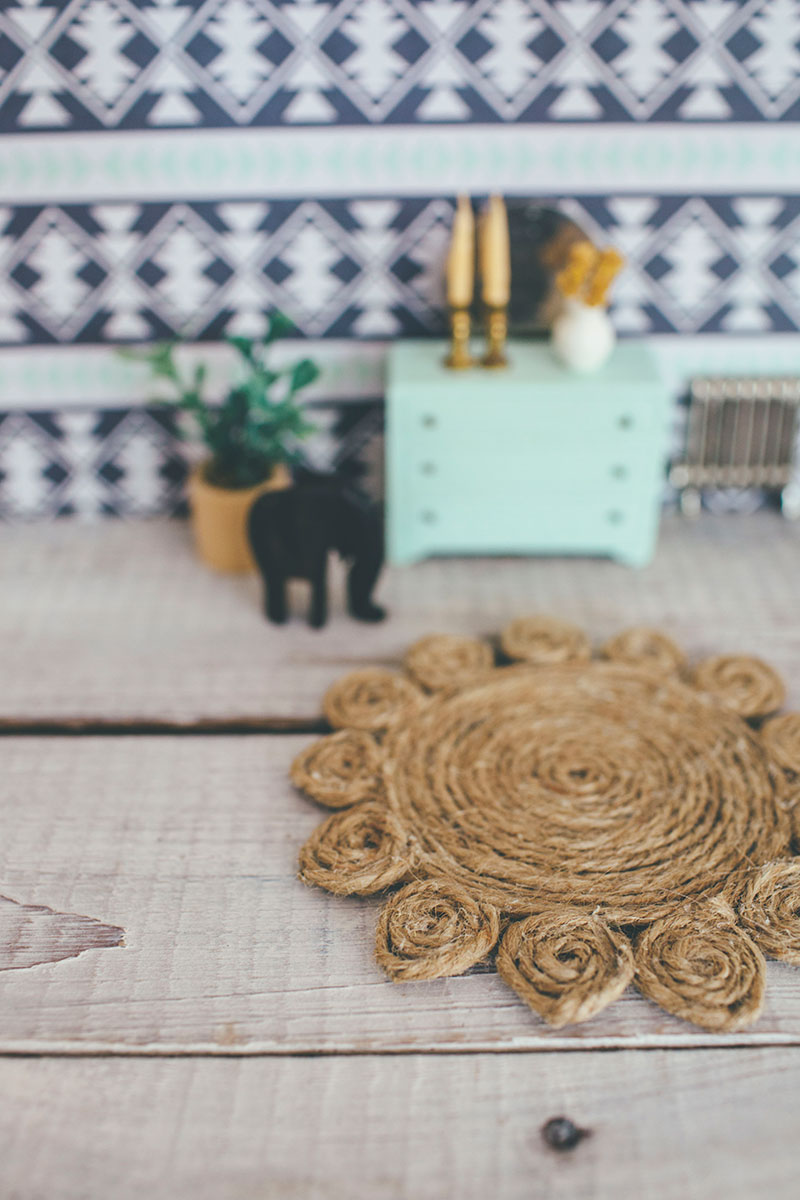 DIY Dollhouse Jute Rug