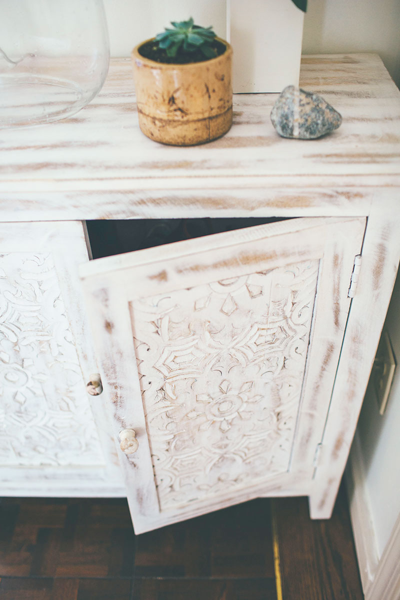 Whitewashed-Accent-Cabinet-Carved-Details
