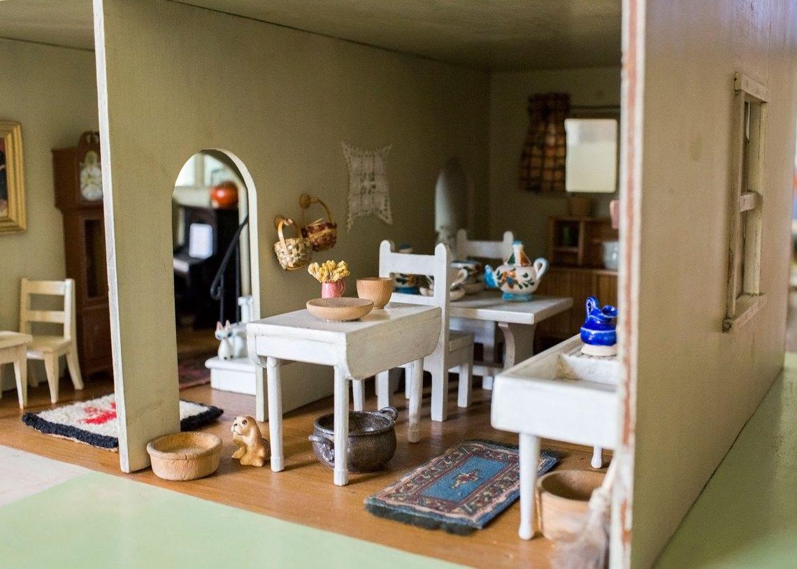 Antique Dollhouse Farmhouse Kitchen