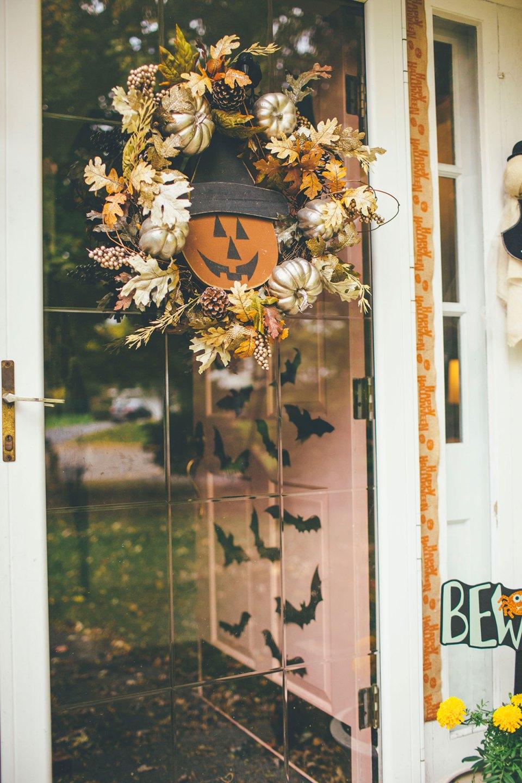 Fall Halloween Front Door Decor