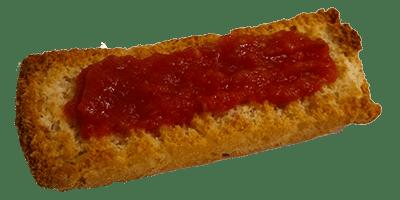 tostada tomate aceite sal jerecitos