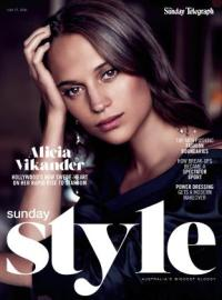 Alicia Vikander for Sunday Style