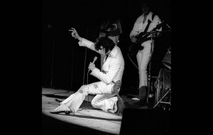Nov. 14, 1970: Elvis Presley in concert at the Forum in Inglewood. Photo by Harry Chase/Los Angeles Times