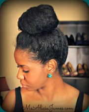 big high bun natural hair