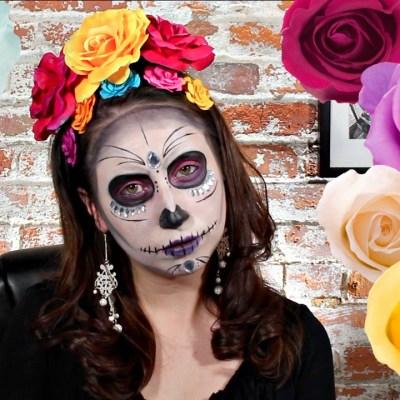 Dia De Los Muertos Sugar Skull Makeup Tutorial