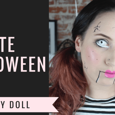CREEPY DOLL Halloween Makeup Tutorial | LAST MINUTE IDEA