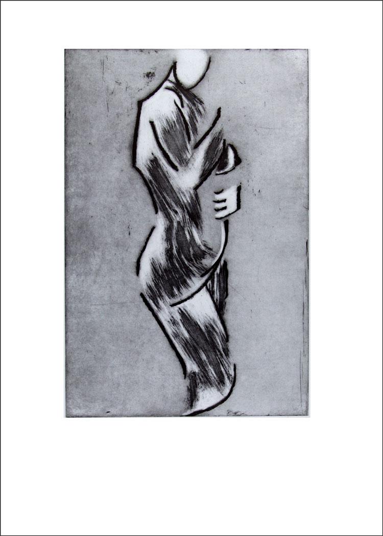 Mujer con la Mano en el Regazo