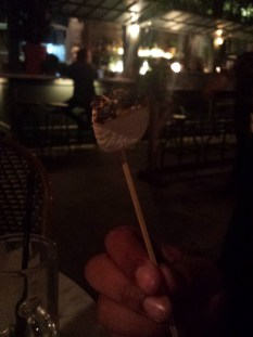 Toasted marshmallows at The Potting Shed