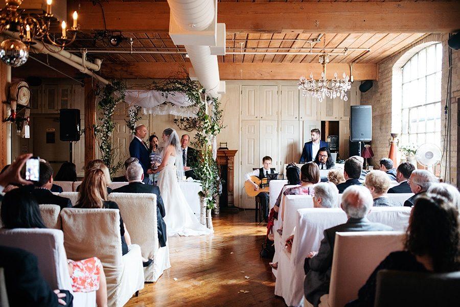 Wedding ceremony in Toronto Ontario