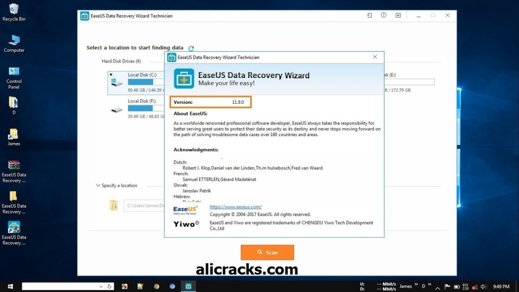 EaseUs Data Recovery Wizard 11.9.0 Crack + Serial Number Free Download