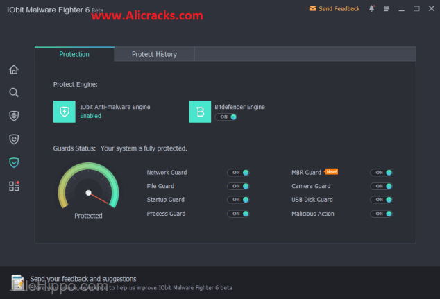IObit Malware Fighter 6.2.0 Crack + Serial Key Free Download