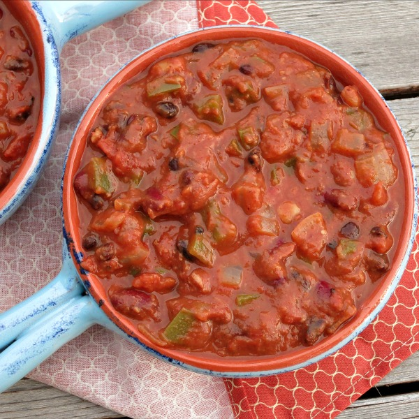 Three Bean Vegetarian Chili from Alida's Kitchen