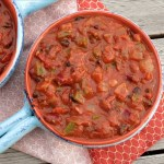 Three Bean Vegetarian Chili #WeekdaySupper